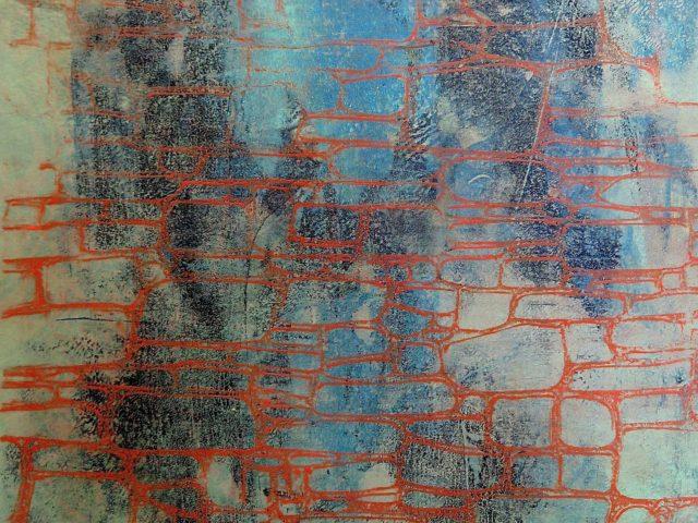Monoprint / Acryl, papir, plade